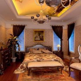 客厅背景墙美式跃层床华丽又不失简约的卧室设计效果图大全