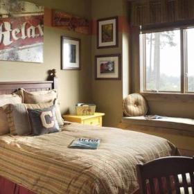 實木床床頭燈家居擺件墻面裝飾榻榻米地臺飄窗床頭柜英倫風格臥室背景墻裝修圖片英倫風格單人床圖片效果圖大