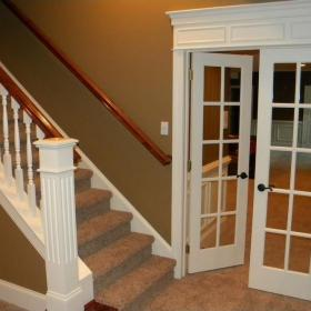 美式地下室樓梯設計效果圖欣賞