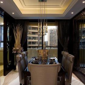 88㎡二居室新古典风格餐厅背景墙装修效果图新古典风格餐台图片