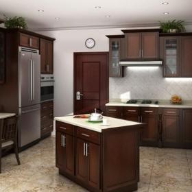 厨房大理石地面装修效果图