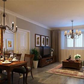 中式風格一居室餐廳吊頂裝修效果圖大全