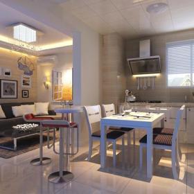 吧台椅吸顶灯餐台隔断家具椅凳餐桌餐椅86㎡一居现代风格餐厅装修效果图现代风格餐椅图片