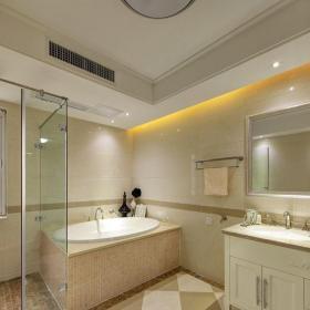 新古典風格四居室衛生間隔斷裝修效果圖