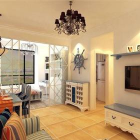 地中海風格一居室客廳隔斷裝修效果圖大全