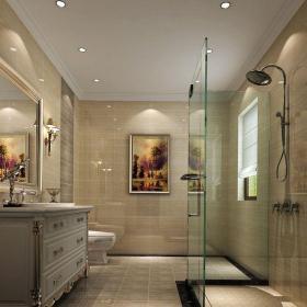 現代簡約四居室衛生間燈具裝修效果圖欣賞