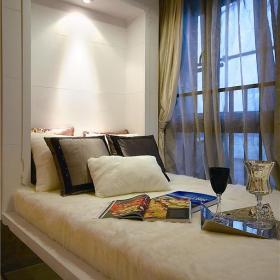 客廳飄窗窗簾簡歐風格二居榻榻米裝修圖片裝修效果圖