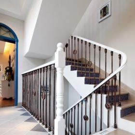 117㎡地中海風格三居樓梯間裝修圖片效果圖