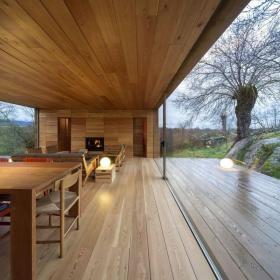 木制別墅客廳地面裝修效果圖
