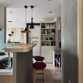 现代简约厨房收纳设计案例效果图