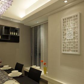 現代簡約三居室餐廳隔斷裝修效果圖欣賞