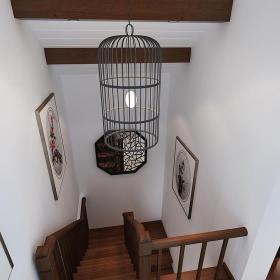 中式實木樓梯設計圖效果圖大全