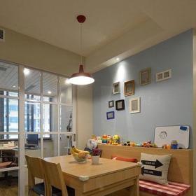 小户型收纳用品地中海风格一字形卡座餐厅效果图