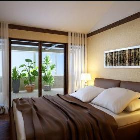 中式風格三居室臥室吊頂裝修效果圖欣賞