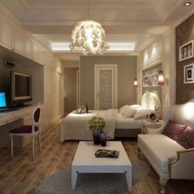 單身公寓歐式風格公寓臥室照片墻裝修效果圖