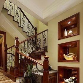 美式風格別墅140平米以上樓梯裝修效果圖