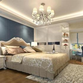現代簡約四居室臥室梳妝臺燈具裝修圖片效果圖