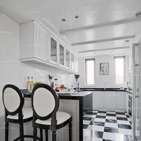 吧台创意生活用品别墅橱柜新古典风格开放式厨房设计装修效果图