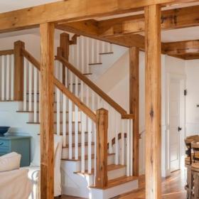 混搭風格田園風格片富裕型140平米以上客廳躍層樓梯效果圖