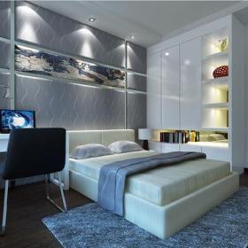 家居收纳背景墙家居收纳现代简约风格卧室装修效果图