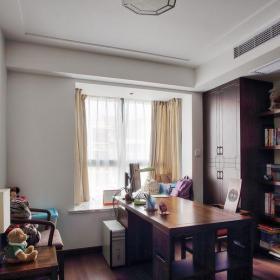 中式風格三居室書房窗簾裝修效果圖欣賞