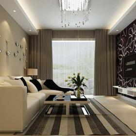 現代簡約二居室客廳隔斷裝修效果圖欣賞