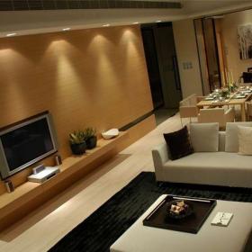 混搭風格二居室客廳背景墻裝修效果圖