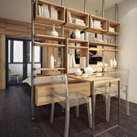 現代風格小公寓餐廳裝修效果圖現代風格餐臺圖片
