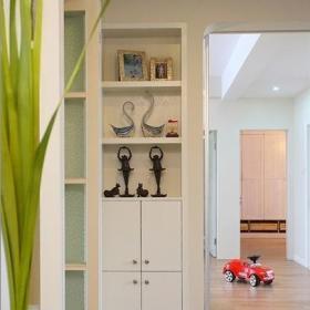 三米設計美式風格公寓富裕型過道裝修效果圖