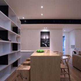 現代簡約三居室書房飄窗裝修圖片效果圖大全