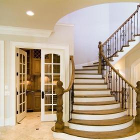 美式設計室內樓梯效果圖大全效果圖