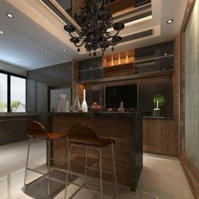 現代簡約五居室廚房燈具裝修效果圖
