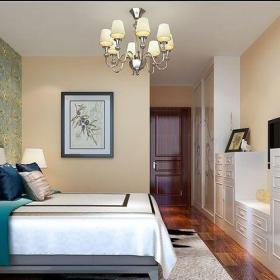 东南亚风格三居室卧室背景墙装修效果图