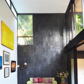 客厅墙面贴砖效果图欣赏