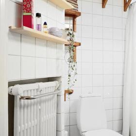 創意家居家居收納白色15平米單身公寓宜家一室一廳衛生間裝修圖片單身公寓宜家一室一廳坐便器圖片效果圖大