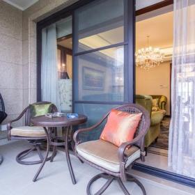 吊燈門窗簾茶幾沙發200㎡大戶型歐式風格陽臺裝修圖片歐式風格椅凳圖片效果圖大全