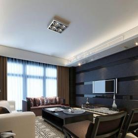 現代簡約一居室客廳吊頂裝修效果圖欣賞