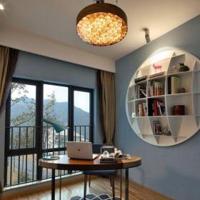 現代簡約二居室書房飄窗裝修效果圖欣賞