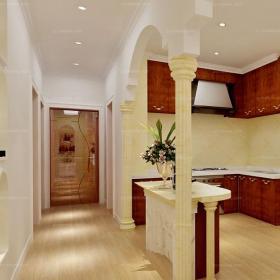 100㎡厨房单身公寓过道橱柜神秘莫测的美式进门走廊来敲门装修效果图