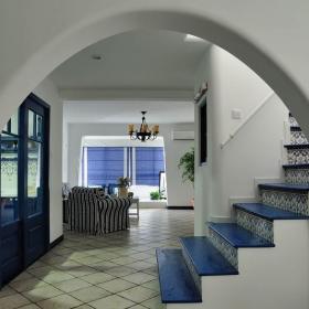 地中海風格別墅樓梯設計效果圖片效果圖