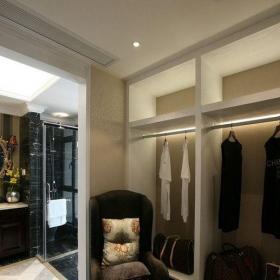 新古典风格四居室衣帽间灯具装修图片效果图欣赏
