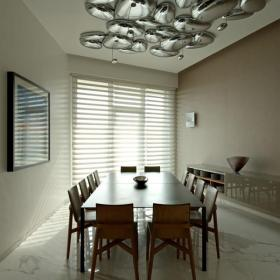 简约风格别墅餐厅吊顶装修效果图简约风格餐台图片