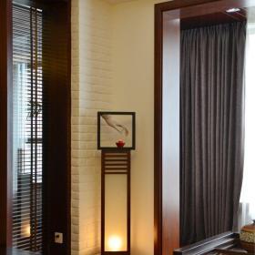 中式風格三居室客廳隔斷裝修效果圖欣賞