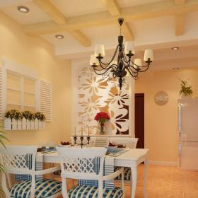 墙上装饰品餐台墙面装饰家具餐桌餐椅墙面装饰地中海风格餐厅墙壁装饰细节图片装修效果图