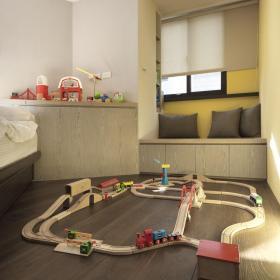 現代兒童房飄窗裝飾效果圖