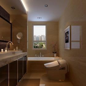 現代簡約三居室衛生間吊頂裝修圖片效果圖
