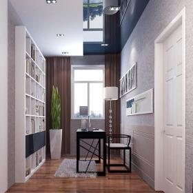 照片墻現代書房裝修效果圖