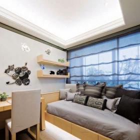 現代簡約三居室書房飄窗裝修圖片裝修效果圖