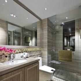 美式卫生间地面贴砖装修图片装修效果图