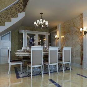 歐式風格別墅餐廳樓梯裝修效果圖大全